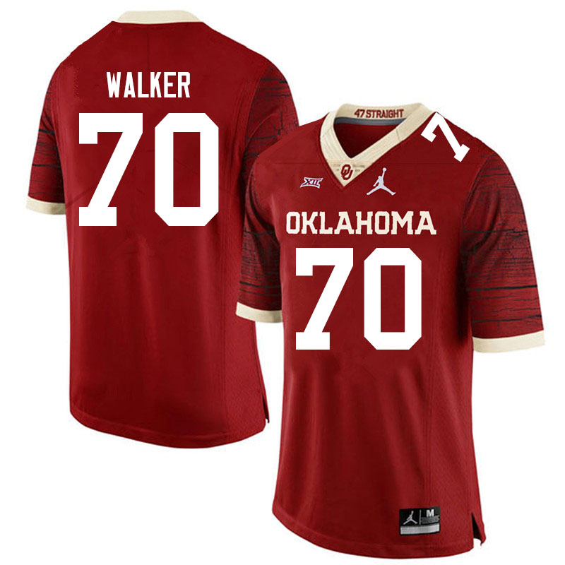 Men #70 Brey Walker Oklahoma Sooners Jordan Brand Limited College Football Jerseys Sale-Crimson