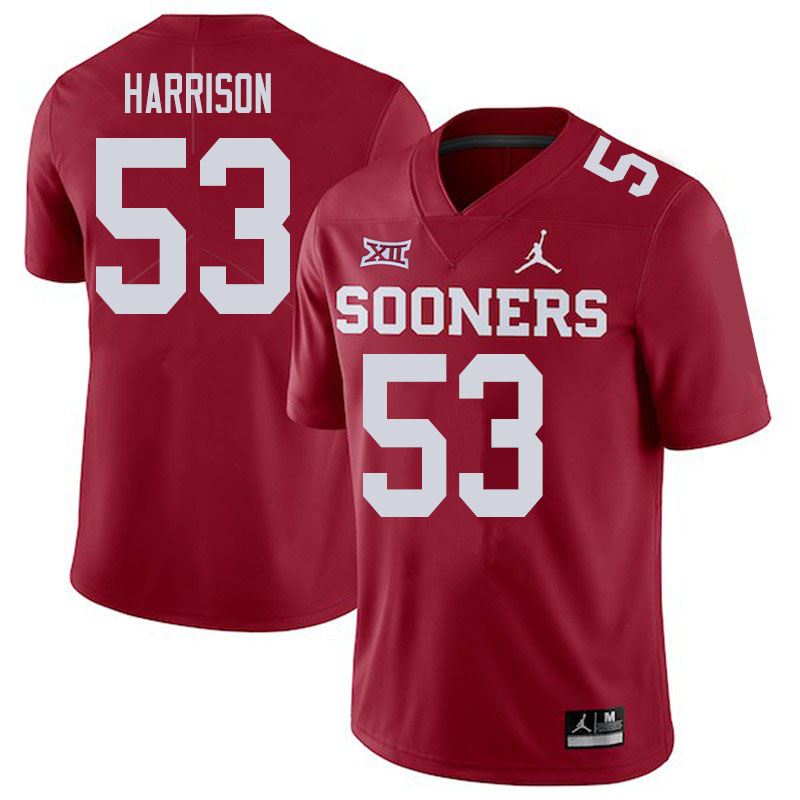 Men #53 Anton Harrison Oklahoma Sooners College Football Jerseys Sale-Crimson