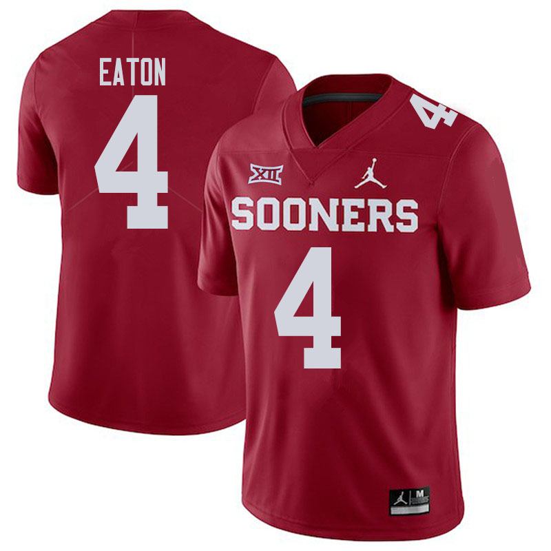 Men #4 Chandler Morris Oklahoma Sooners College Football Jerseys Sale-Crimson