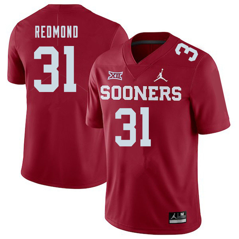Jordan Brand Men #31 Jalen Redmond Oklahoma Sooners College Football Jerseys Sale-Crimson