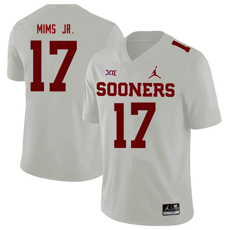 Jordan Brand Men #17 Marvin Mims Oklahoma Sooners College Football Jerseys Sale-White