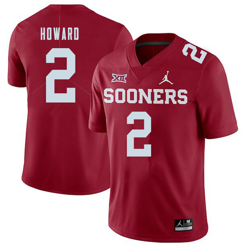 Jordan Brand Men #2 Theo Howard Oklahoma Sooners College Football Jerseys Sale-Crimson