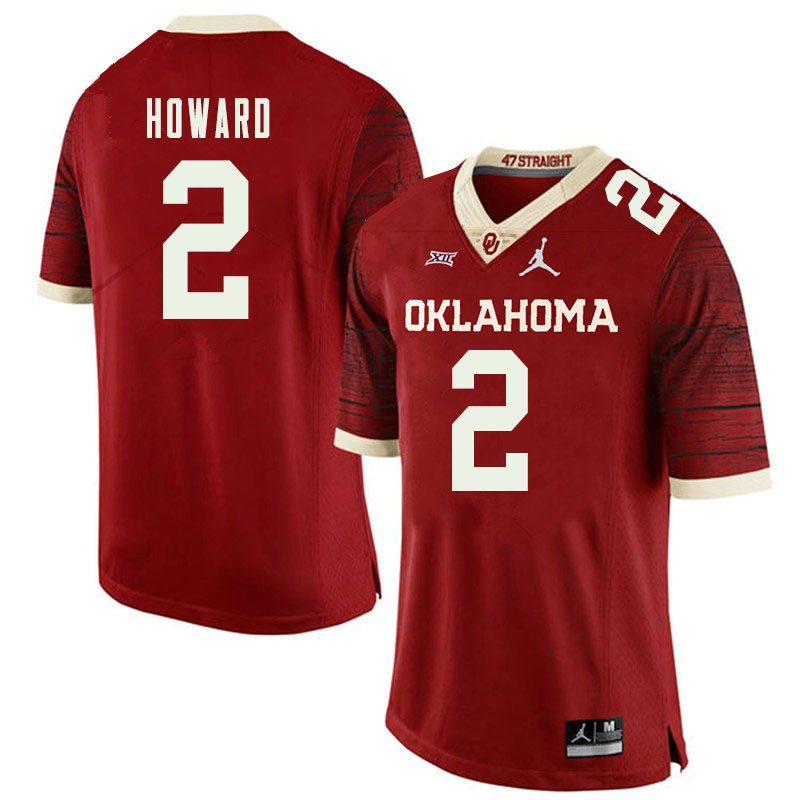 Jordan Brand Men #2 Theo Howard Oklahoma Sooners College Football Jerseys Sale-Retro