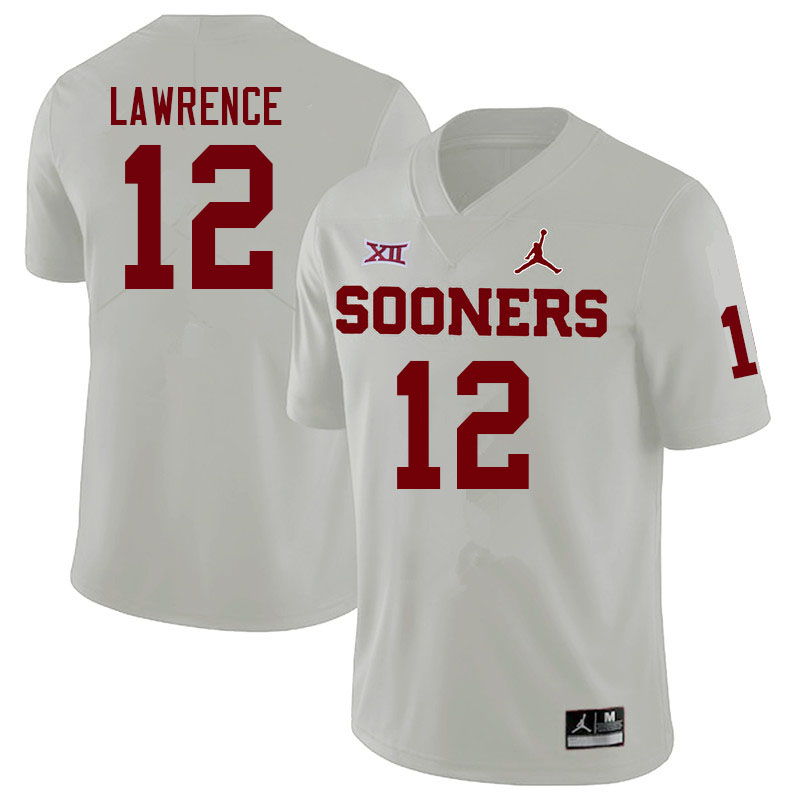 Men #12 Key Lawrence Oklahoma Sooners College Football Jerseys Sale-White