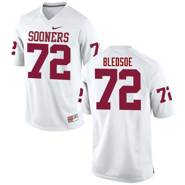 Men Oklahoma Sooners #72 Amani Bledsoe College Football Jerseys Game-White