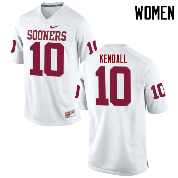 Women Oklahoma Sooners #10 Austin Kendall College Football Jerseys Game-White