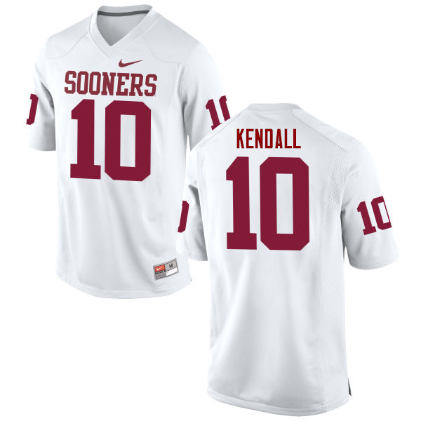 Men Oklahoma Sooners #10 Austin Kendall College Football Jerseys Game-White