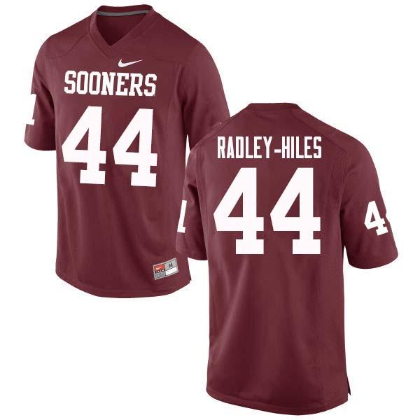 Men  44 Brendan Radley-Hiles Oklahoma Sooners College Football Jerseys Sale -Crimson 8c70fd809