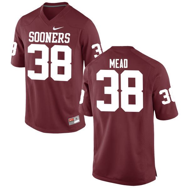 Men Oklahoma Sooners #38 Bryan Mead College Football Jerseys Game-Crimson