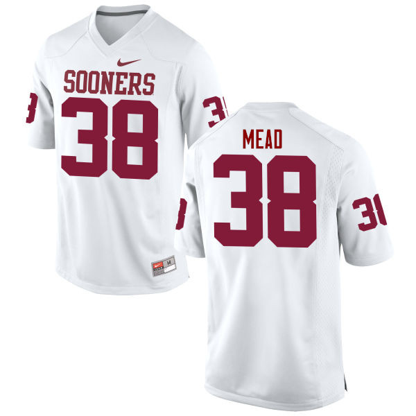 Men Oklahoma Sooners #38 Bryan Mead College Football Jerseys Game-White