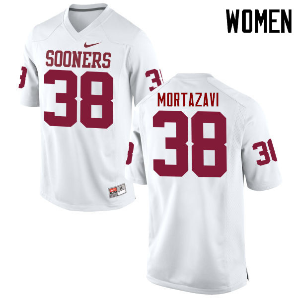 Women Oklahoma Sooners #38 Cameron Mortazavi College Football Jerseys Game-White
