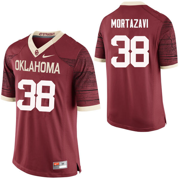 Men Oklahoma Sooners #38 Cameron Mortazavi College Football Jerseys Limited-Crimson