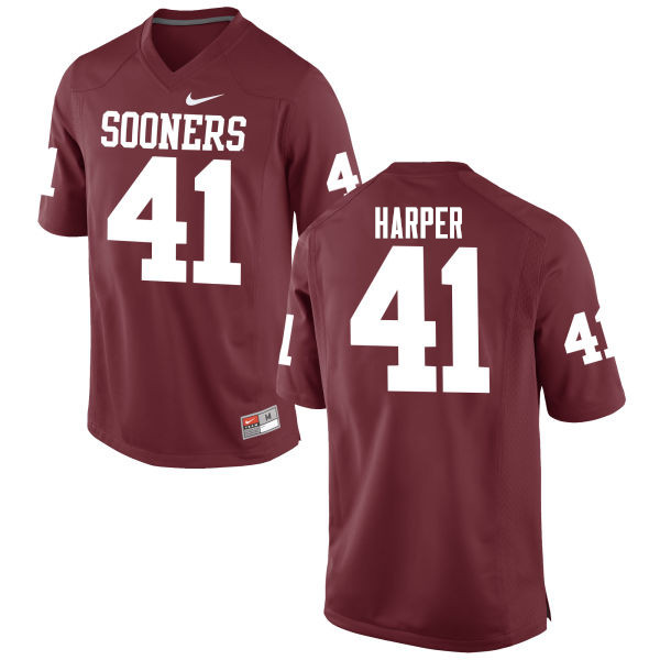 Men Oklahoma Sooners #41 Casey Harper College Football Jerseys Game-Crimson