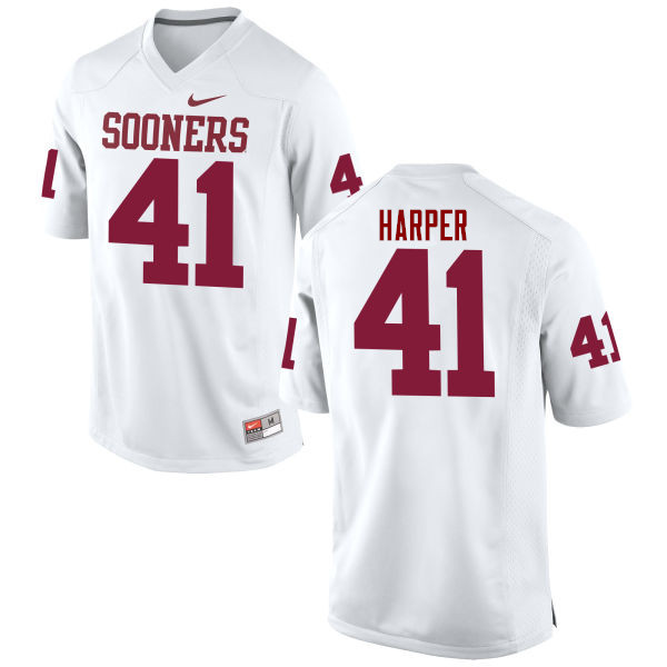 Men Oklahoma Sooners #41 Casey Harper College Football Jerseys Game-White