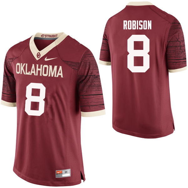 Men Oklahoma Sooners #8 Chris Robison College Football Jerseys Limited-Crimson
