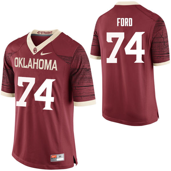 Men Oklahoma Sooners #74 Cody Ford College Football Jerseys Limited-Crimson