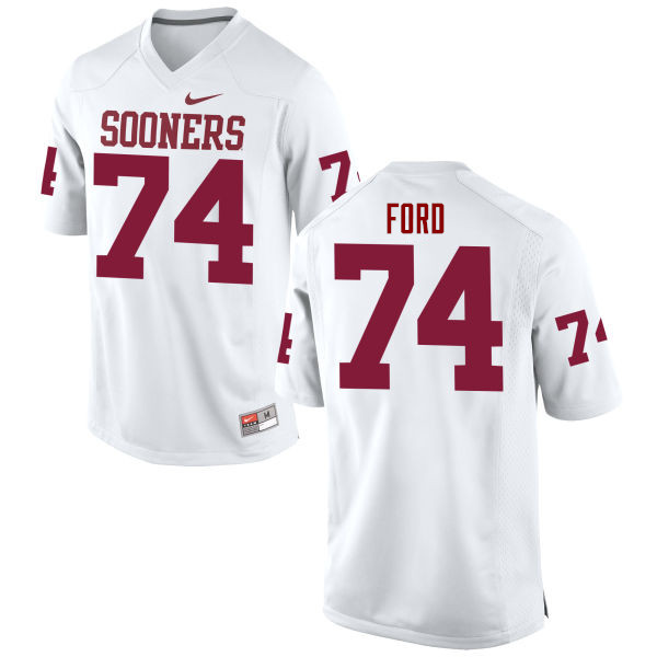 Men Oklahoma Sooners #74 Cody Ford College Football Jerseys Game-White