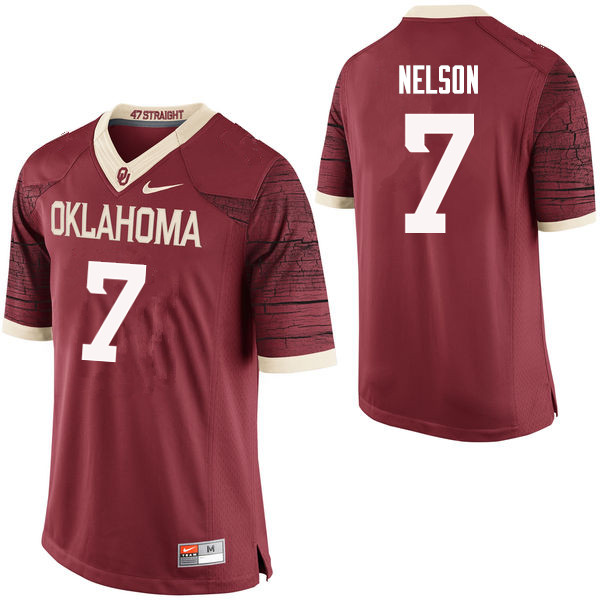 Men Oklahoma Sooners #7 Corey Nelson College Football Jerseys Limited-Crimson