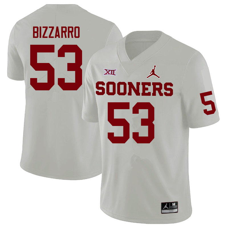 Men #53 Cory Bizzarro Oklahoma Sooners College Football Jerseys Sale-White