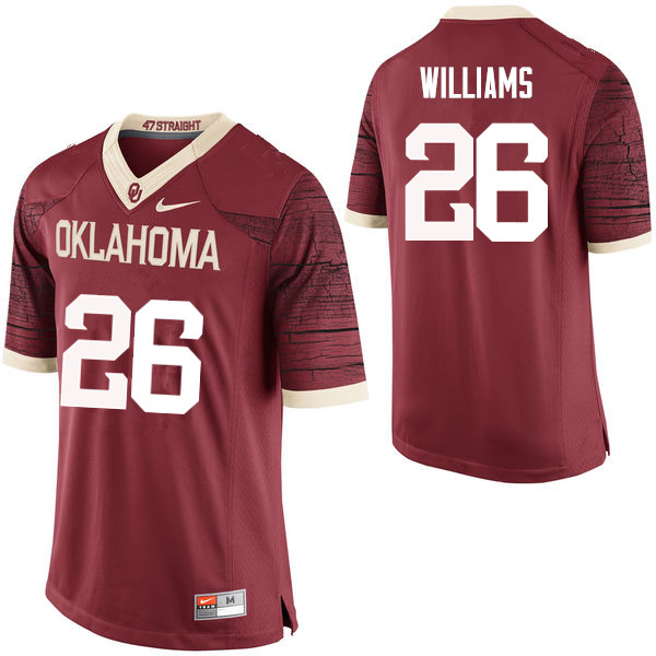 Men Oklahoma Sooners #26 Damien Williams College Football Jerseys Limited-Crimson