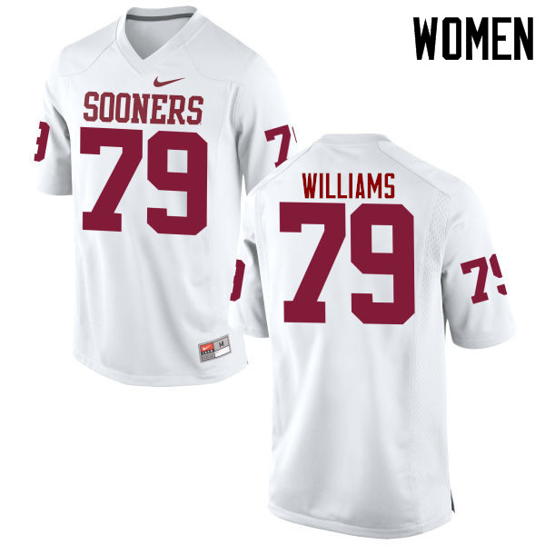 Women Oklahoma Sooners #79 Daryl Williams College Football Jerseys Game-White