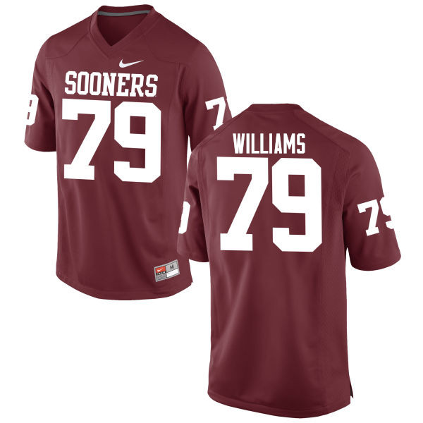 Men Oklahoma Sooners #79 Daryl Williams College Football Jerseys Game-Crimson