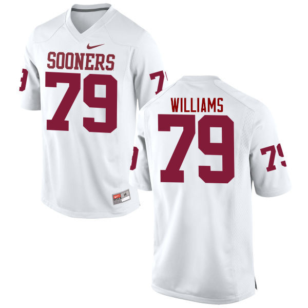 Men Oklahoma Sooners #79 Daryl Williams College Football Jerseys Game-White