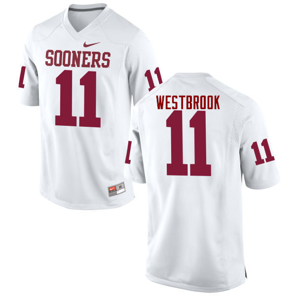 Men Oklahoma Sooners #11 Dede Westbrook College Football Jerseys Game-White