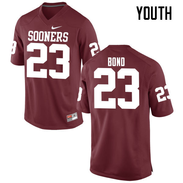 Youth Oklahoma Sooners #23 Devante Bond College Football Jerseys Game-Crimson