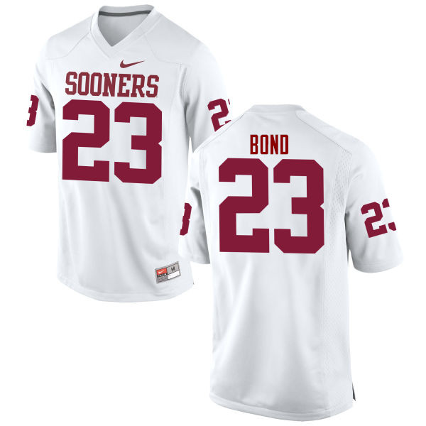 Men Oklahoma Sooners #23 Devante Bond College Football Jerseys Game-White