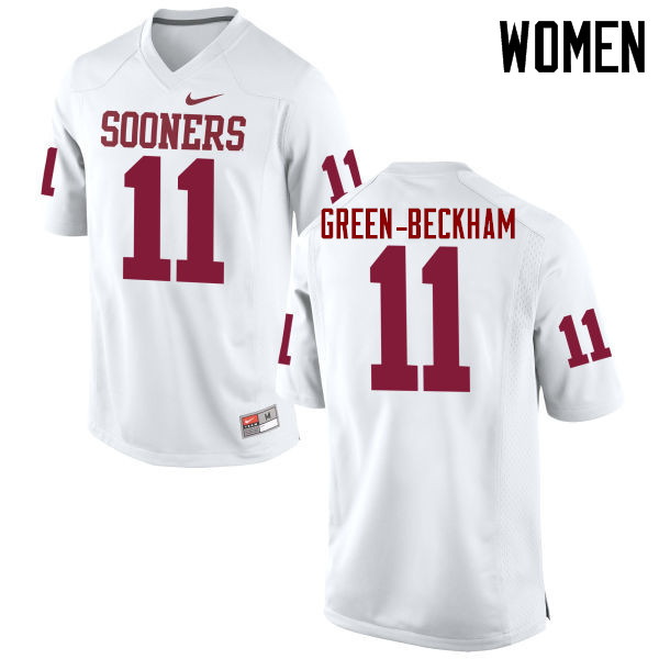 Women Oklahoma Sooners #11 Dorial Green-Beckham College Football Jerseys Game-White