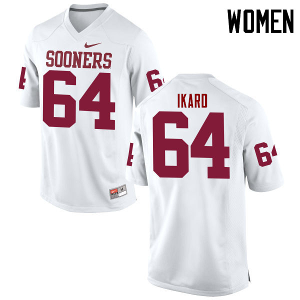 Women Oklahoma Sooners #64 Gabe Ikard College Football Jerseys Game-White