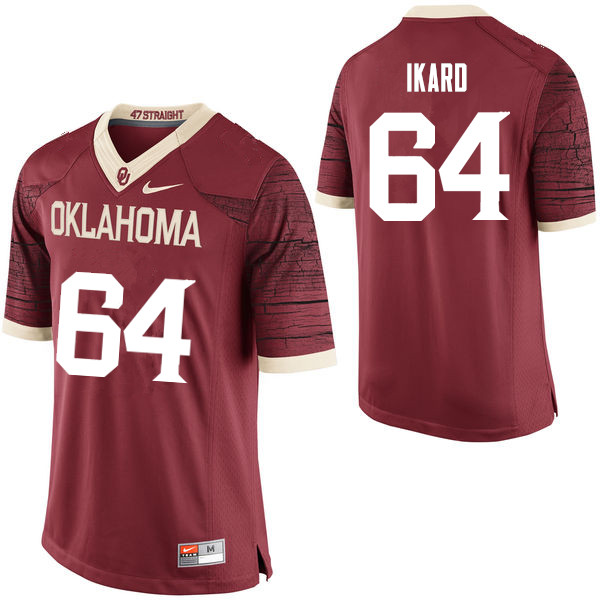 Men Oklahoma Sooners #64 Gabe Ikard College Football Jerseys Limited-Crimson