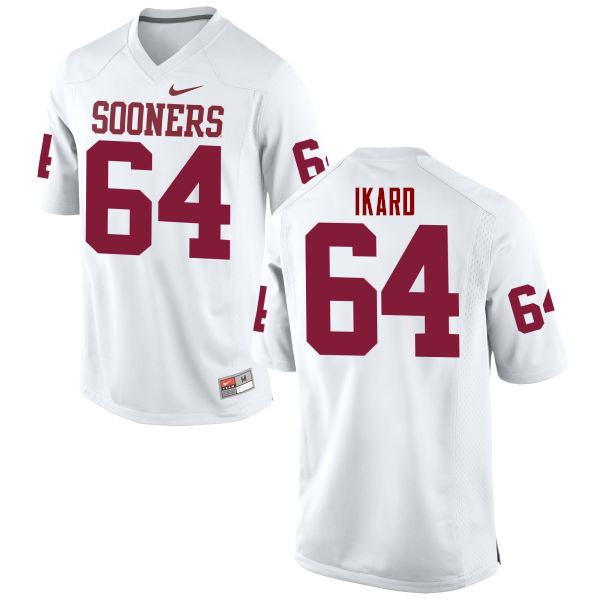 Men Oklahoma Sooners #64 Gabe Ikard College Football Jerseys Game-White