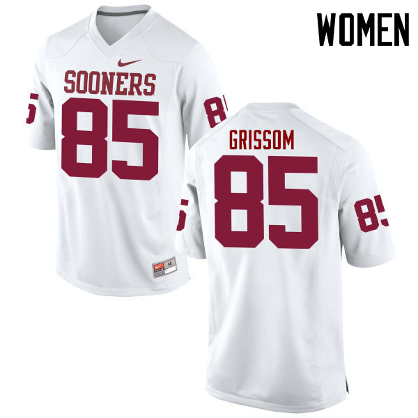 Women Oklahoma Sooners #85 Geneo Grissom College Football Jerseys Game-White