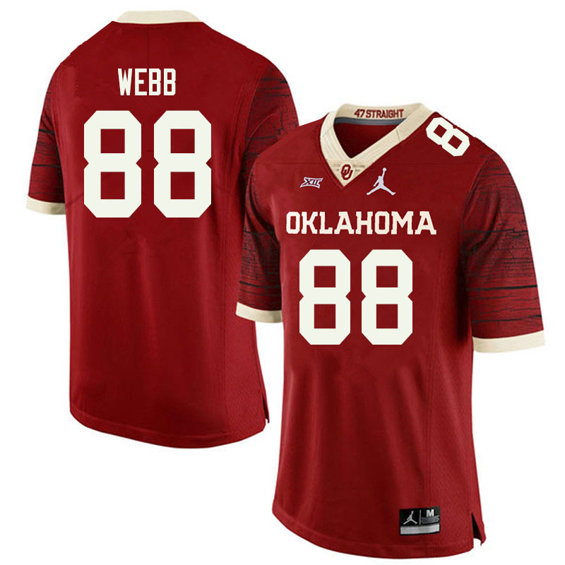 Jordan Brand Men #88 Jackson Webb Oklahoma Sooners College Football Jerseys Sale-Retro