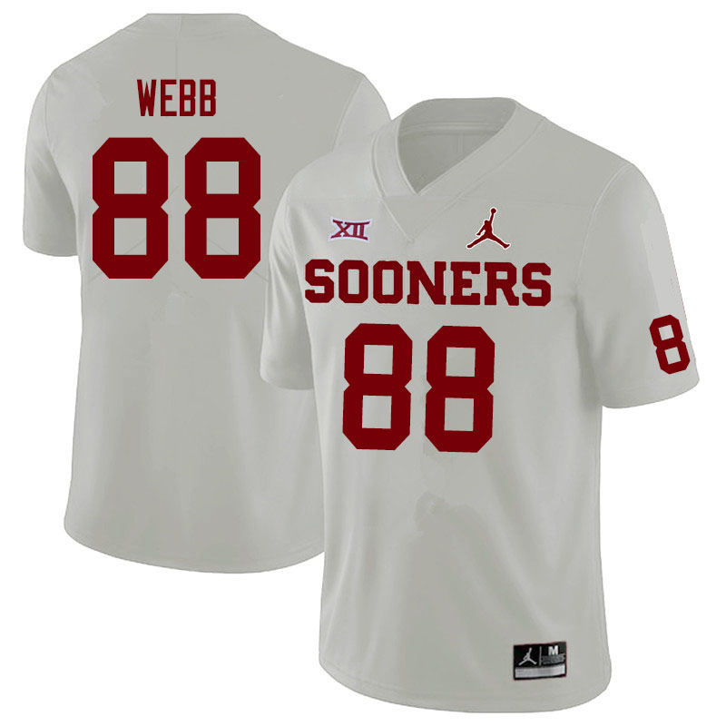 Jordan Brand Men #88 Jackson Webb Oklahoma Sooners College Football Jerseys Sale-White