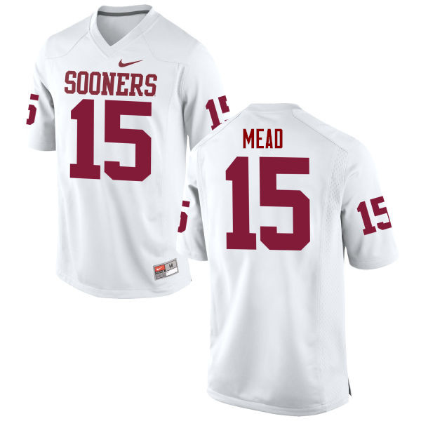 Men Oklahoma Sooners #15 Jeffery Mead College Football Jerseys Game-White