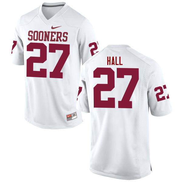 Men Oklahoma Sooners #27 Jeremiah Hall College Football Jerseys Game-White