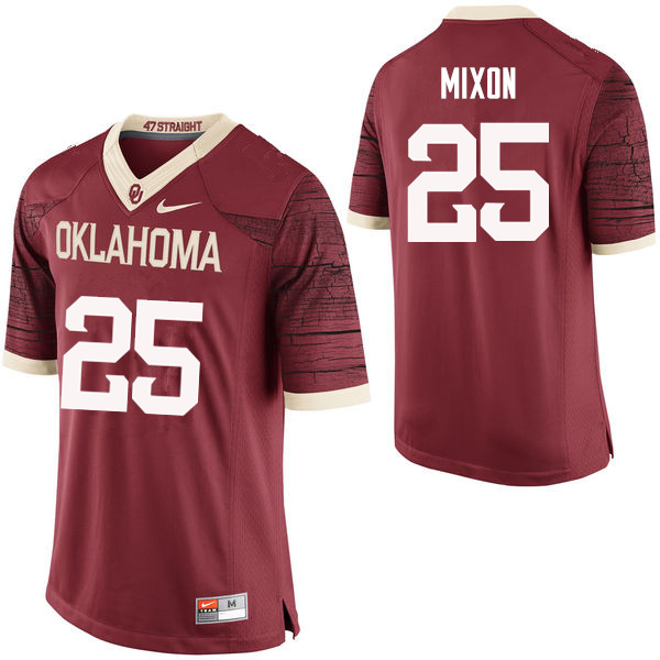 Men Oklahoma Sooners #25 Joe Mixon College Football Jerseys Limited-Crimson