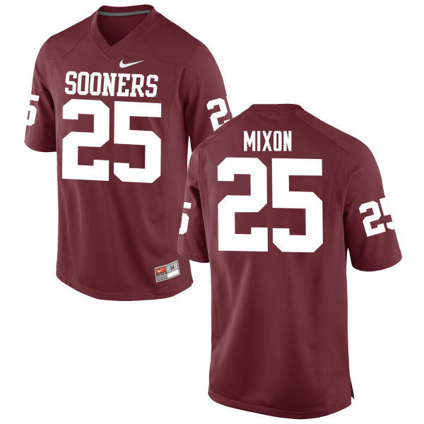 Men Oklahoma Sooners #25 Joe Mixon College Football Jerseys Game-Crimson