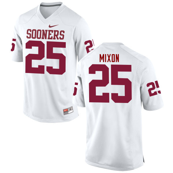 Men Oklahoma Sooners #25 Joe Mixon College Football Jerseys Game-White
