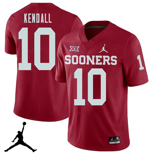 Jordan Brand Men #10 Austin Kendall Oklahoma Sooners 2018 College Football Jerseys Sale-Crimson