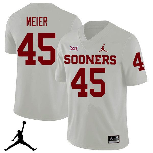 e9fd7088c6d Jordan Brand Men  45 Carson Meier Oklahoma Sooners 2018 College Football  Jerseys Sale-White