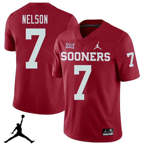 Jordan Brand Men #7 Corey Nelson Oklahoma Sooners 2018 College Football Jerseys Sale-Crimson