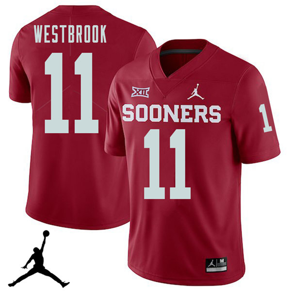 Jordan Brand Men #11 Dede Westbrook Oklahoma Sooners 2018 College Football Jerseys Sale-Crimson
