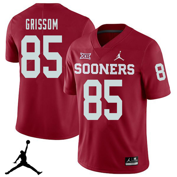 Jordan Brand Men #85 Geneo Grissom Oklahoma Sooners 2018 College Football Jerseys Sale-Crimson