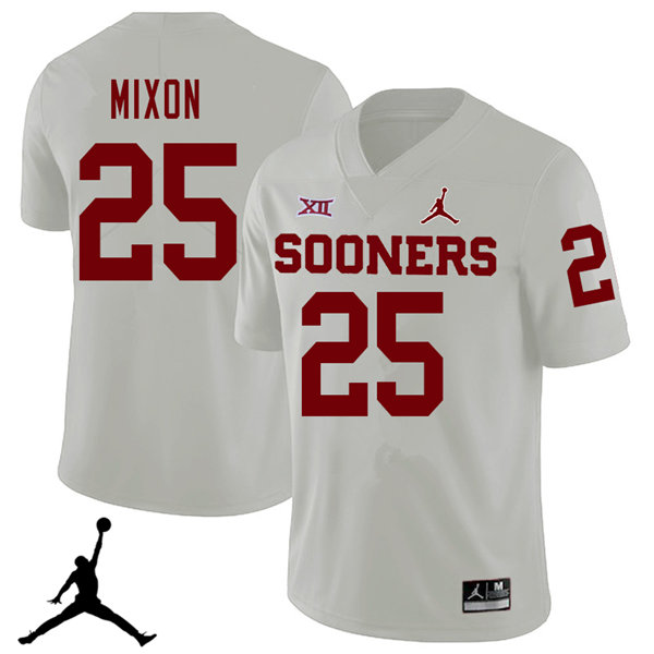 Jordan Brand Men #25 Joe Mixon Oklahoma Sooners 2018 College Football Jerseys Sale-White