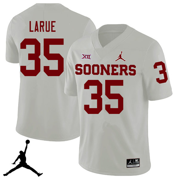 Jordan Brand Men #35 Ronnie LaRue Oklahoma Sooners 2018 College Football Jerseys Sale-White