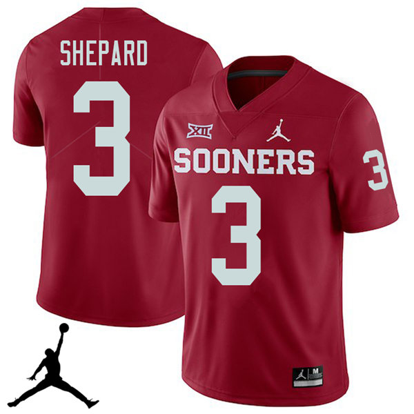 Jordan Brand Men #3 Sterling Shepard Oklahoma Sooners 2018 College Football Jerseys Sale-Crimson